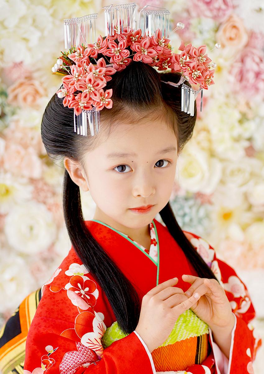 七歳 日本髪 平安のお姫様『紫式部』尾長(おなが)