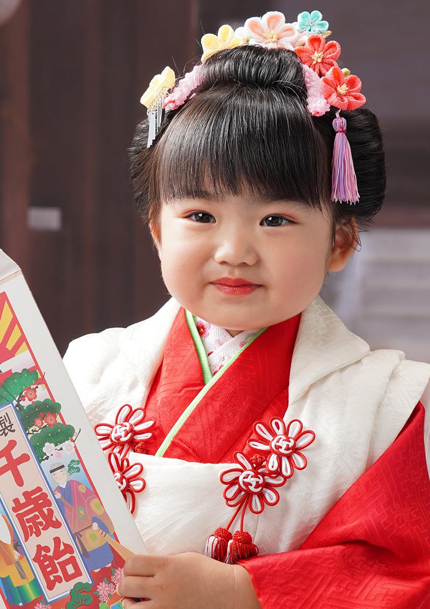 三歳 日本髪 胸キュン♡  『三歳 恋姫』前髪下ろし