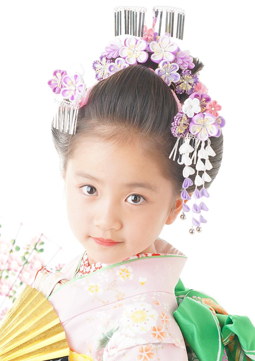 七歳 日本髪 よりキュートに 『恋姫』前髪下ろし