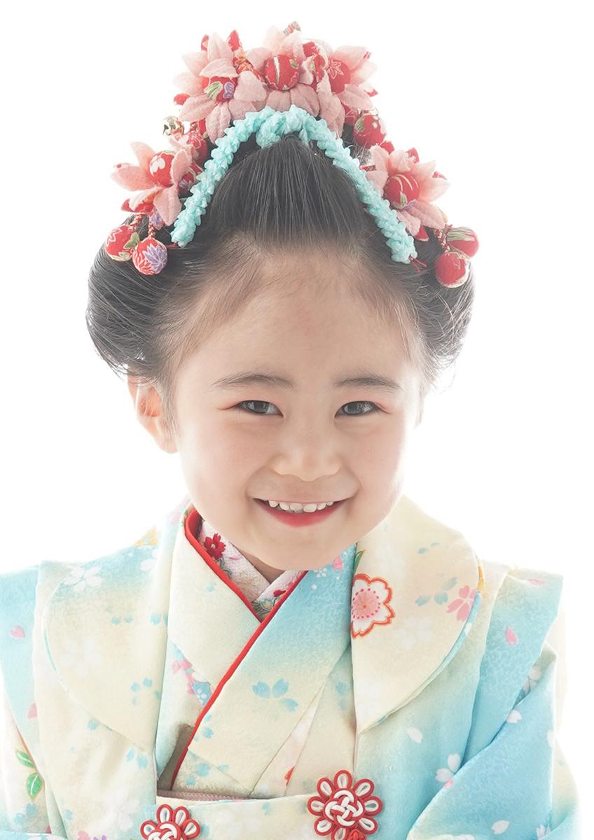 三歳 日本髪 ちょっとお姉さん『三歳 愛姫』前髪上げ